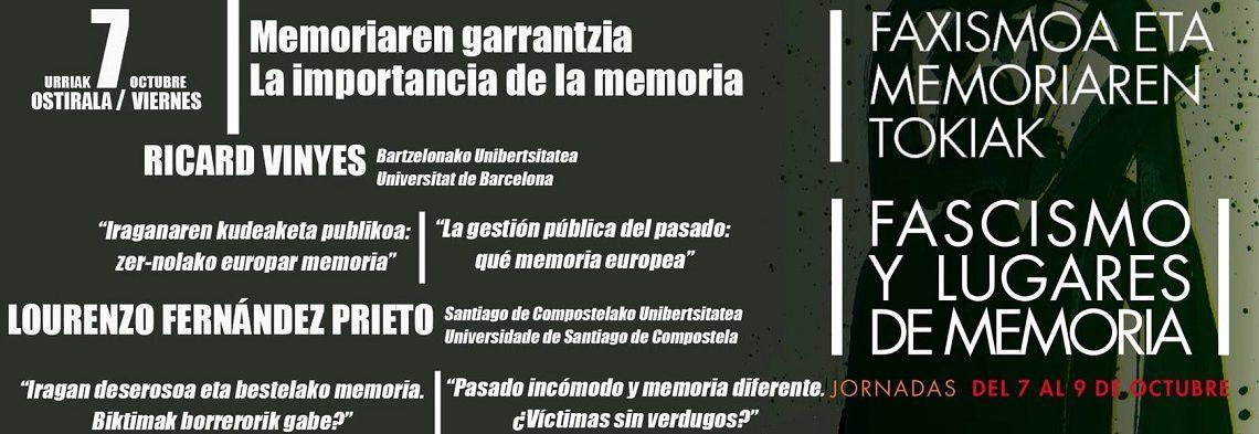 Ricard Vinyes y Lourenzo Fernández Prieto: Gestión pública del pasado y memoria