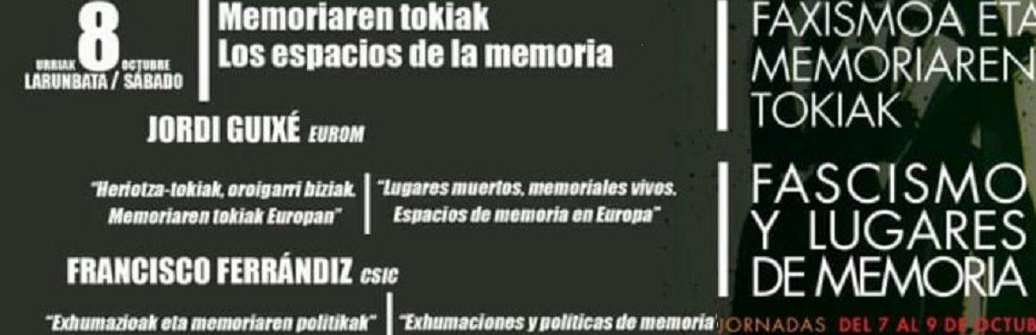Jordi Guixé y Paco Ferrándiz: Los espacios de memoria