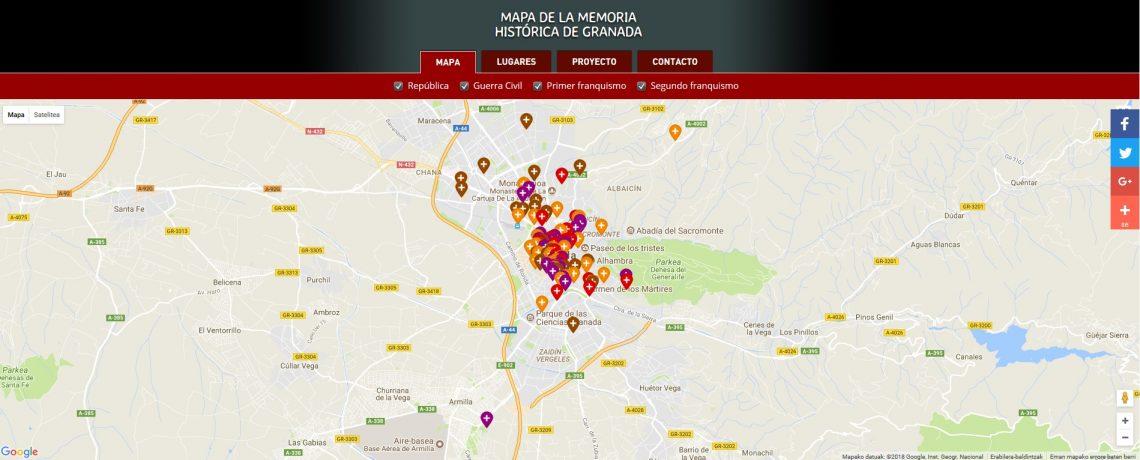 Miguel  Ángel  del  Arco  Blanco  –  Granadako  memoriaren  mapa